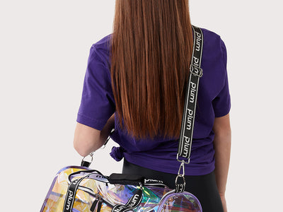 Plum Iridescent Duffle Bag