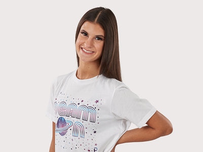 Plum Beam On Graphic T-Shirt
