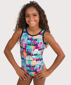 Plum Miami Magic Cross-Back Leotard