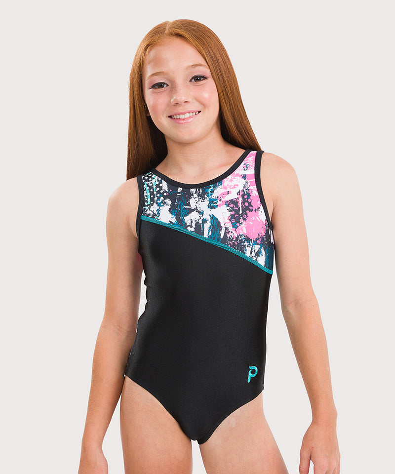 Plum Farrago Asymmetrical Traditional Leotard