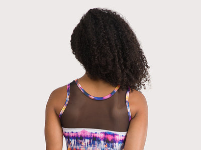 Plum Blurred Mesh Leotard