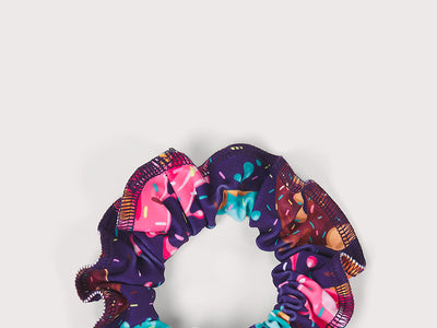 Plum Donut Stop Believing  Scrunchie