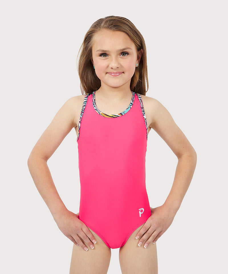 Plum Sugar Rush Mesh Flip Side Racerback Leotard