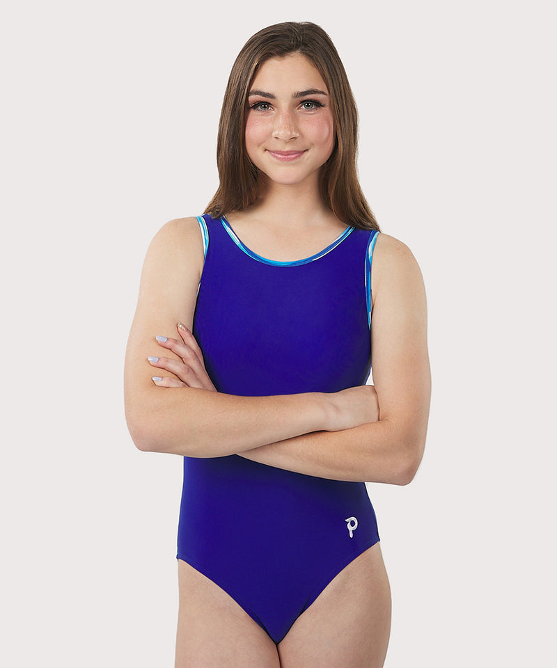 Plum Shoreside Cross-Back Flip Side Leotard
