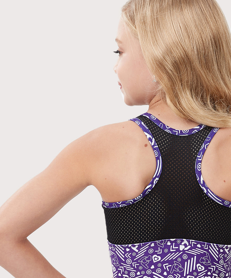 Plum Cares Warrior Mesh Flip Side Racerback Leotard