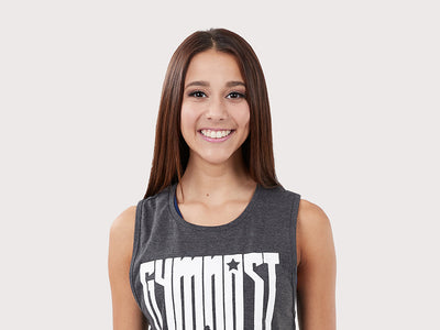 "Plum Gymnast ""Adult"" Muscle Tank Top"