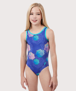 Plum Camellia Traditional Leotard