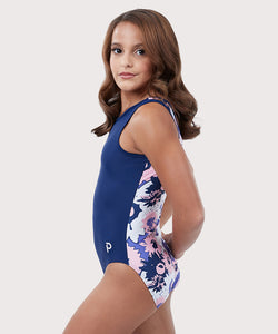 Plum Florafrost Flip Side Leotard