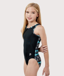 Plum Fair Isle Flip Side Leotard