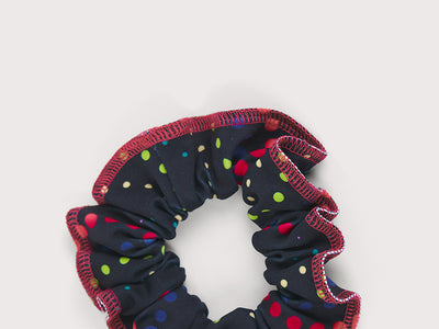 Plum Super Dot Scrunchie