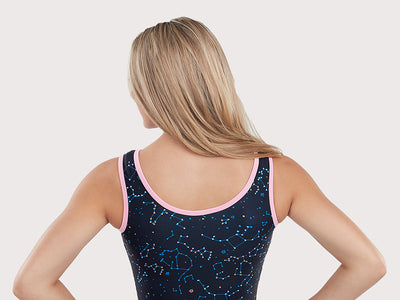 Plum Constellation Station Traditional Leotard