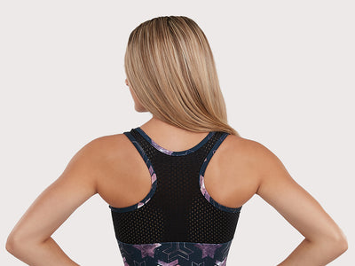 Plum Milky Way Sport Mesh Flip Side Racerback Leotard