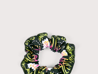 Plum Hello World Scrunchie