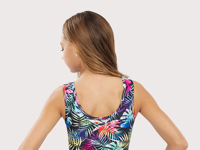 Plum Aloha Flip Side Leotard