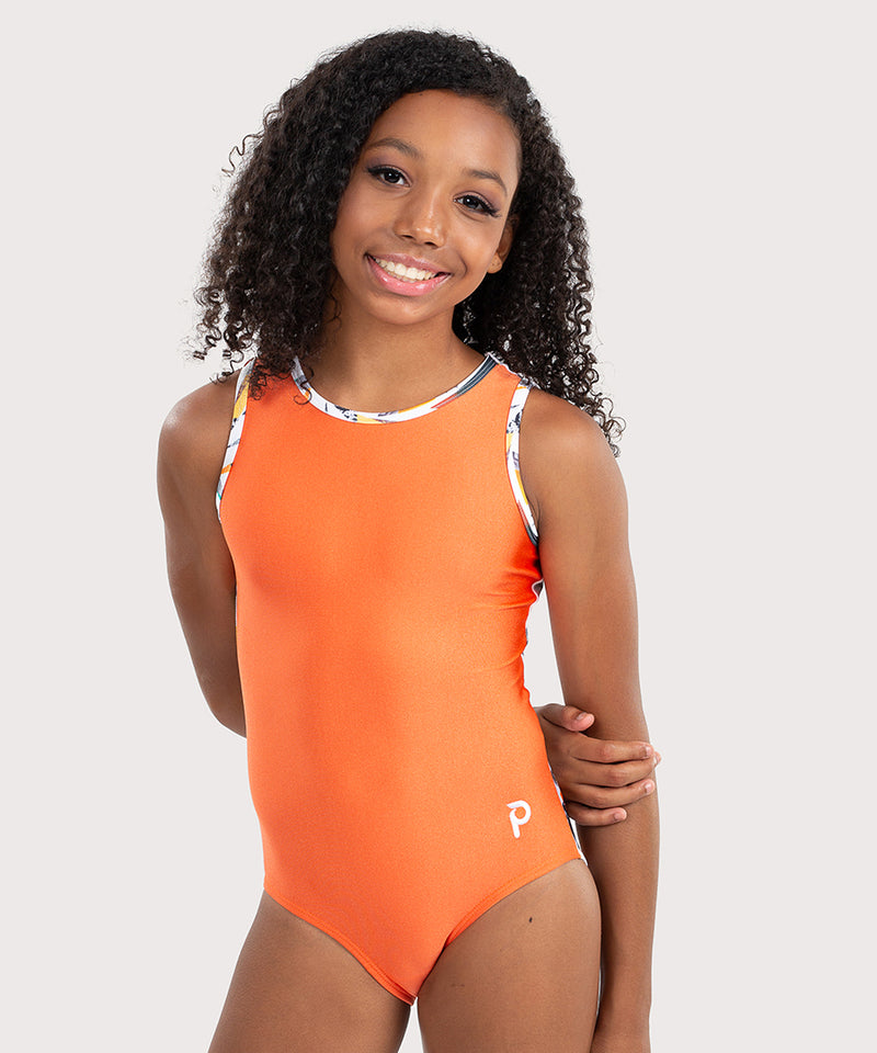 Plum Orang' aCUTE Cross-Back Flip Side Leotard
