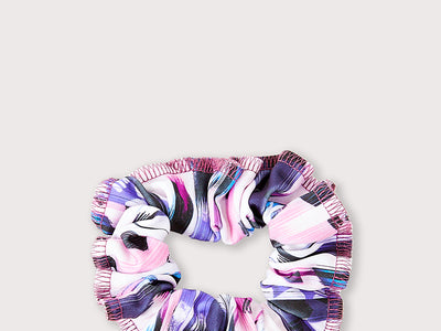 Plum Vintage Pink You Think Scrunchie