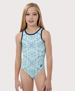 Plum Snow Angel Cross-Back Leotard