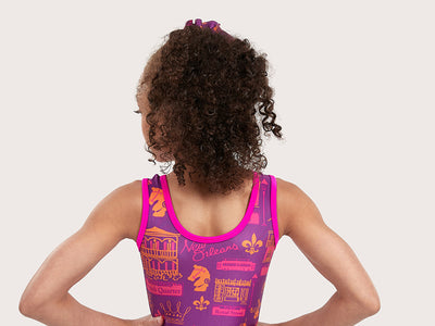 Plum NOLA Traditional Leotard
