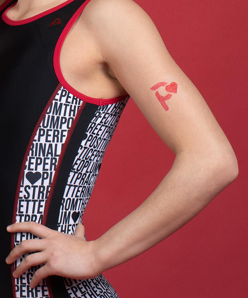 Plum Cares Gym Life Side-Panel Short + Temporary Tattoo
