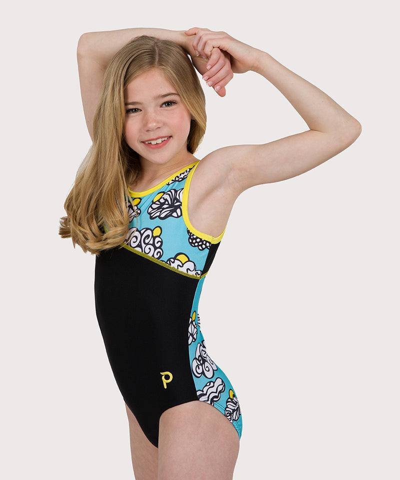 Plum Here Comes The Sun Asymmetrical Traditional Leotard