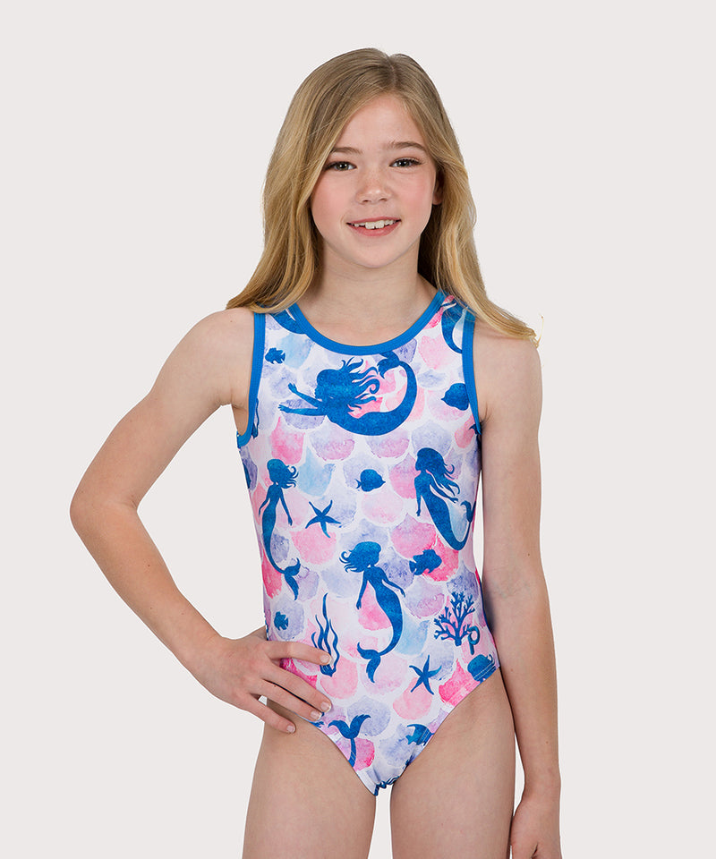Plum Mermaid Melody Traditional Leotard