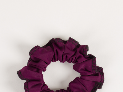 Plum Back to Basics Ruby Scrunchie