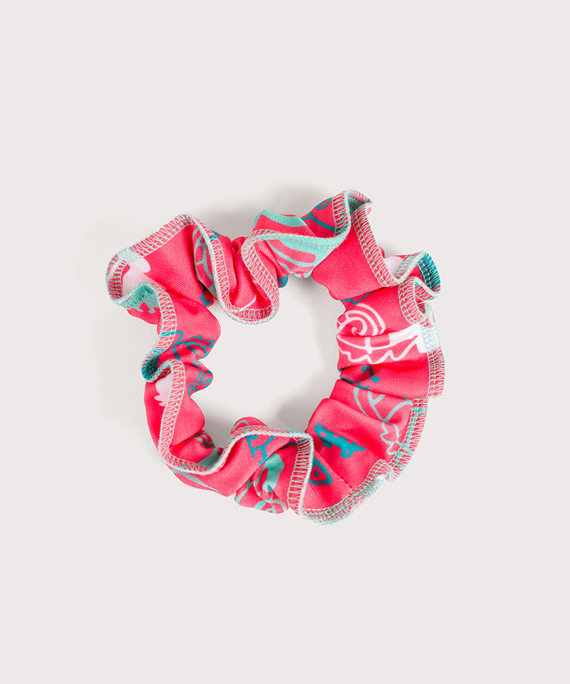Plum Seahorsin Around Scrunchie