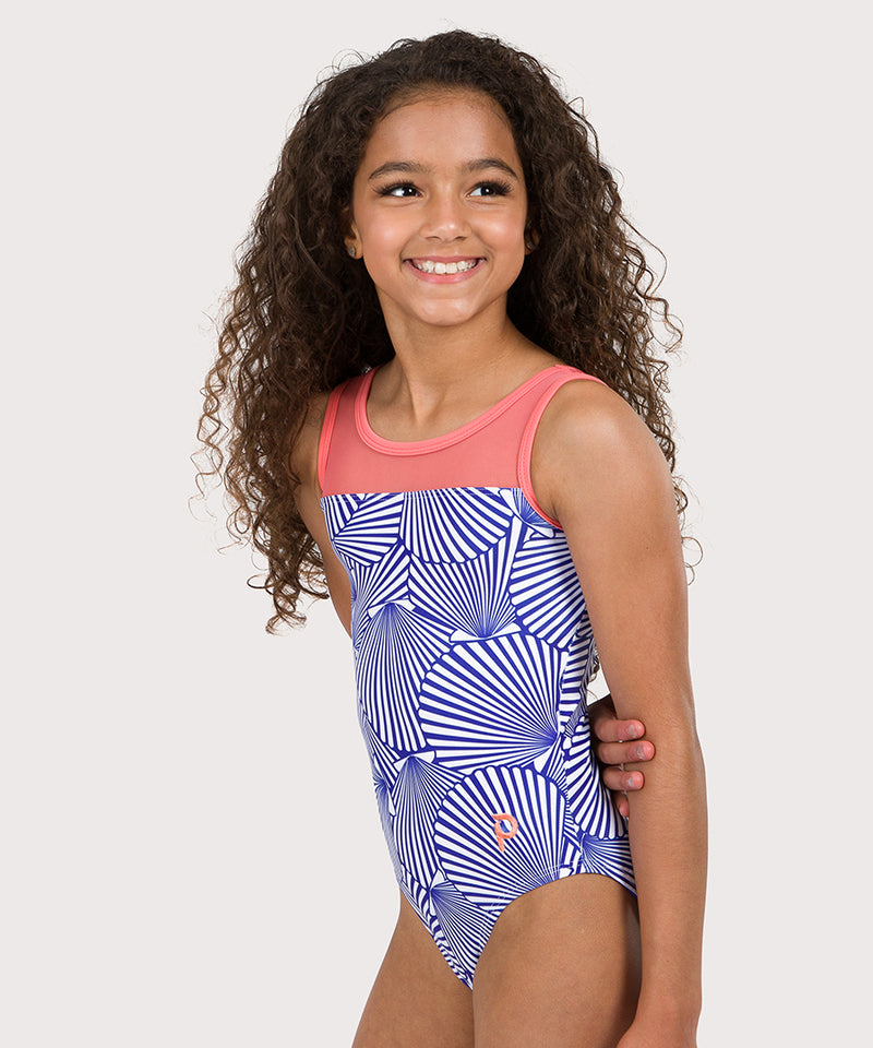 Plum She Sells Seashells Mesh Leotard