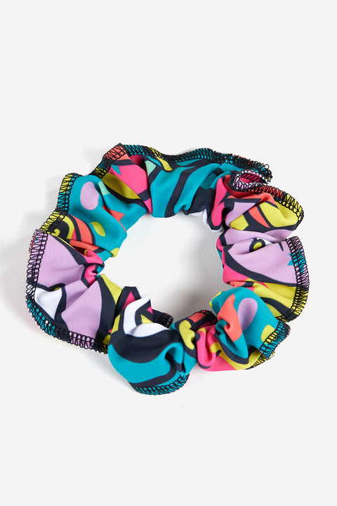 Plum Graffiti Garden Scrunchie