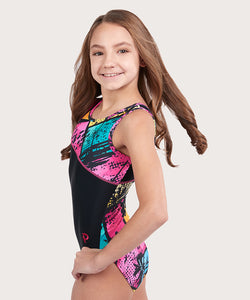 Plum Cruisin Asymmetrical Traditional Leotard