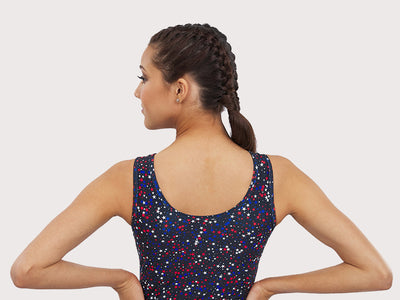 Plum Shoot for the Stars Flip Side Leotard