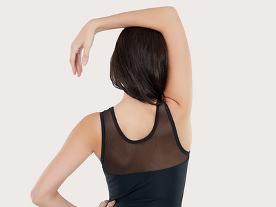 Plum Back to Basics Raven Mesh Leotard