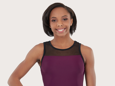 Plum Back to Basics Ruby Mesh Leotard