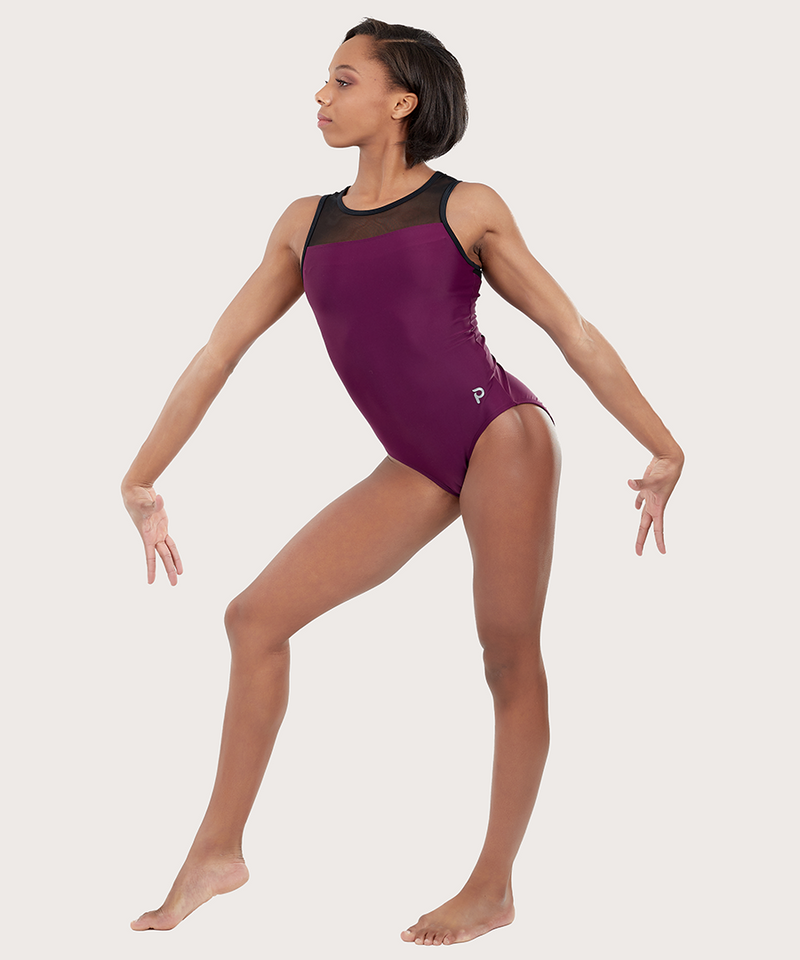 Plum Ruby Mesh Leotard