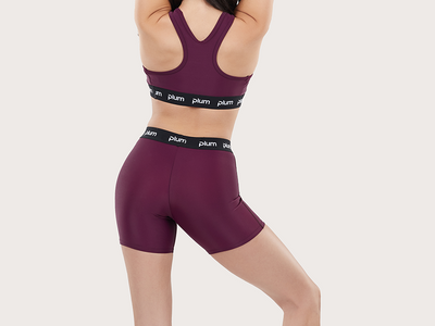 Plum Ruby Biker Short