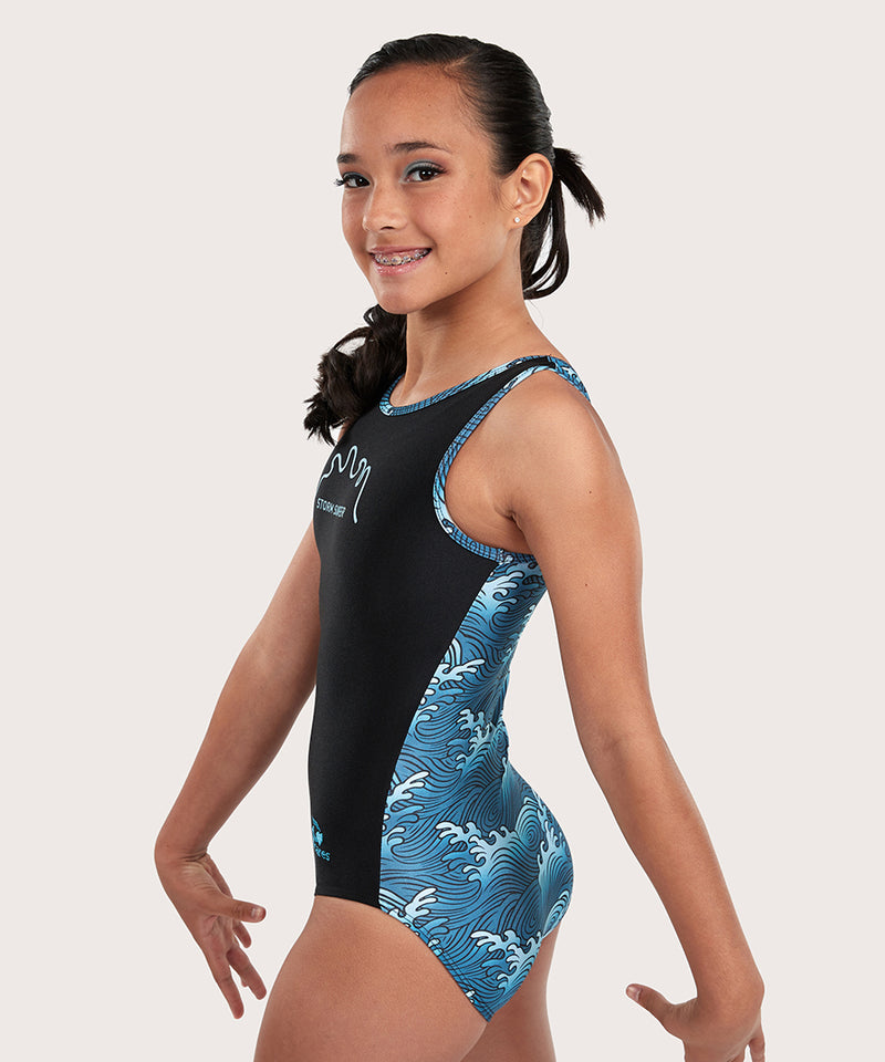 Plum Cares Storm Surfer Flip Side Leotard