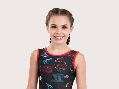 Plum Windy City Traditional Leotard