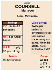 Manager Cards for Pine Tar Baseball 54 card set