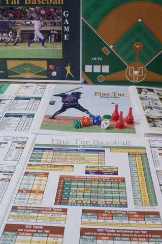 Pine Tar Baseball Dice/Board Game 2nd Ed. w/parts