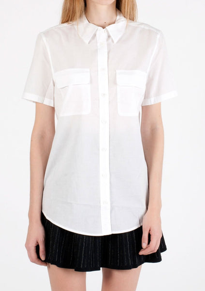 EQUIPMENT : COTTON CRISPY SHIRT, WHITE $158 (SOLD OUT)