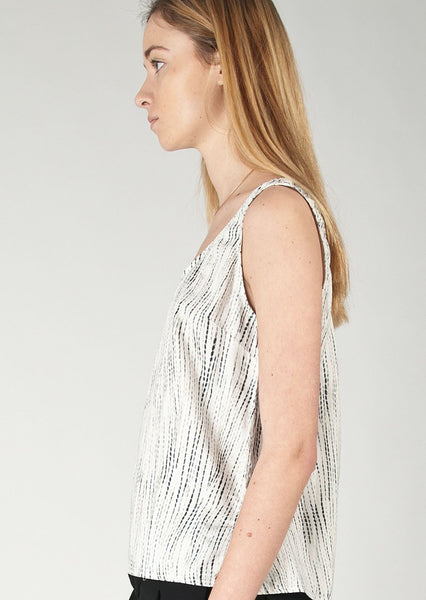 RAG & BONE/JEAN : PATTERNED COTTON TANK, IVORY MULTI $165 (SOLD OUT)