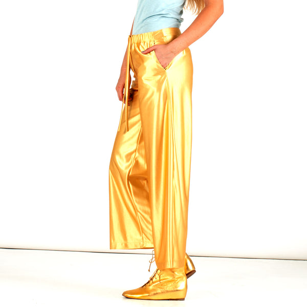 CREATURES OF THE WIND : WIDE LEG PANTS, GOLD $695 (SOLD OUT)