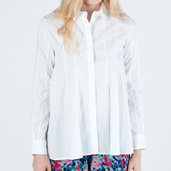 J.W.ANDERSON : COTTON BLOUSE, WHITE $655 (SOLD OUT)