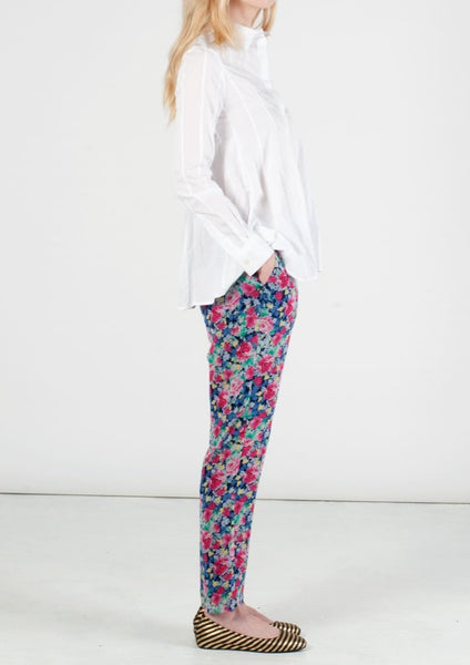 JOIE : FLORAL SILK PANTS, MULTI-COLORED $268
