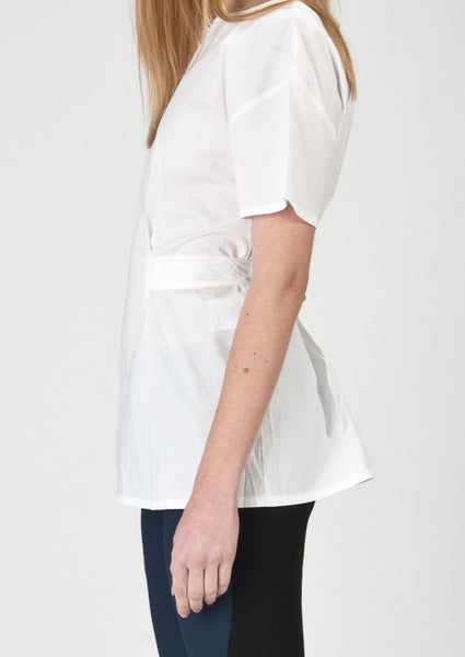 LOVE MOSCHINO : COTTON BLEND BLOUSE, WHITE $170