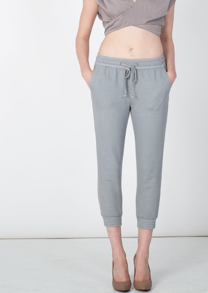 MOTHER : DENIM JOGGER PANTS, SMOKE $176