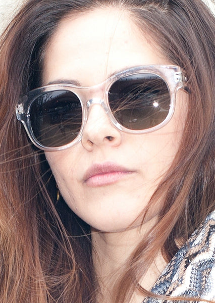 PAUL SMITH : ROUND ACETATE SUNGLASSES, CLEAR $300 (SOLD OUT)