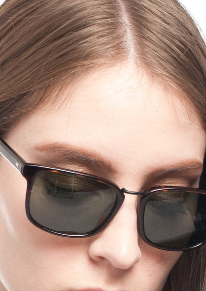 STEVEN ALAN : ACETATE SQUARE SUNGLASSES, BROWN TORTOISE $165 (SOLD OUT)