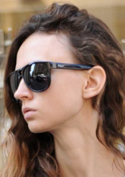 SALVATORE FERRAGAMO : ACETATE AVIATOR SUNGLASSES, BLACK $300 (SOLD OUT)