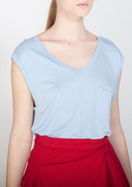 T BY ALEXANDER WANG : POCKET TEE, PERIWINKLE $80 (SOLD OUT)